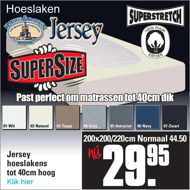 Jersey Hoeslakens XL