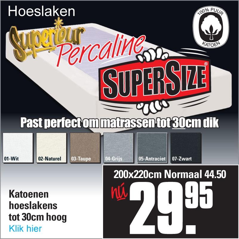 Katoenen Hoeslakens XL