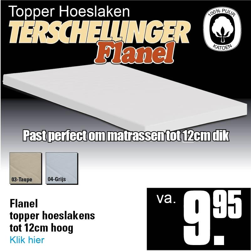 Flanel Topper Hoeslakens