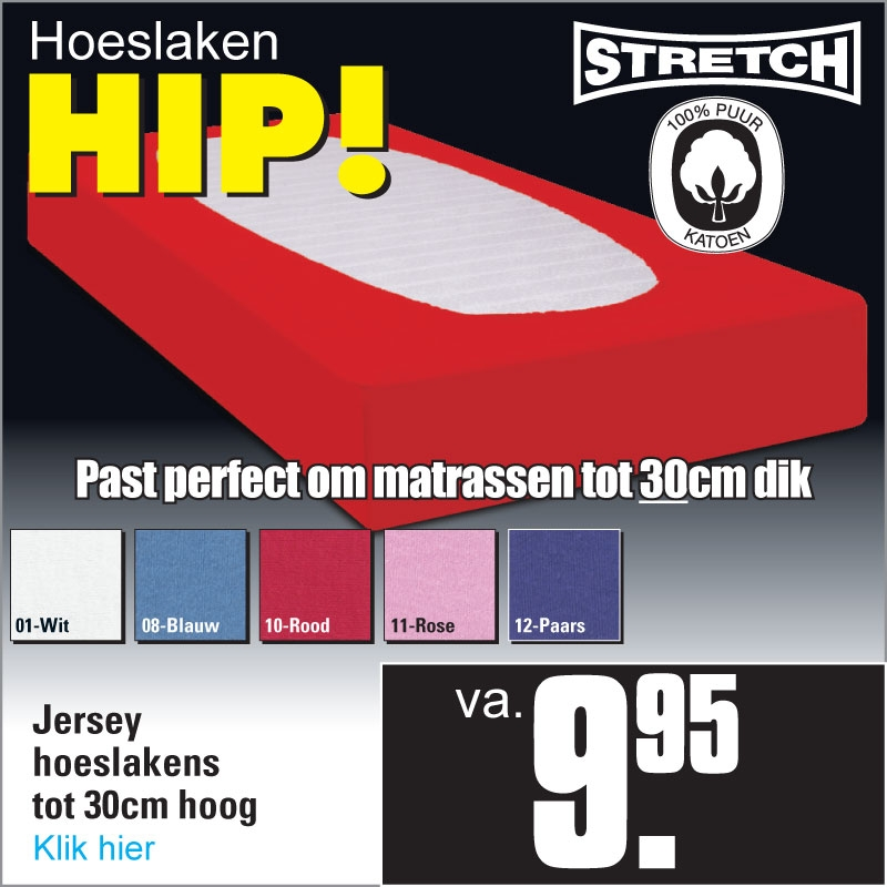 Jersey Hoeslakens Hip
