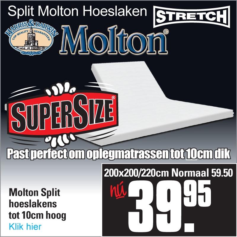 Split Molton Hoeslaken XL