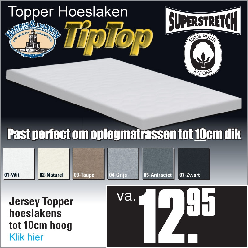 Topper Jersey Hoeslakens