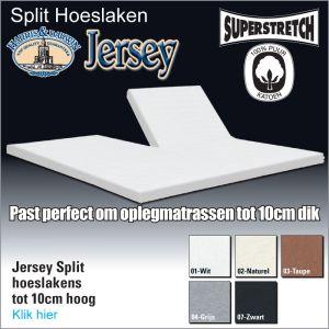 Split Jersey Topper Hoeslakens