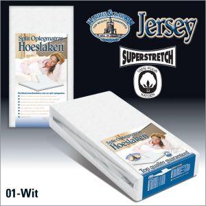 Split Jersey hoeslaken Oplegmatras Wit
