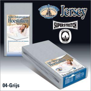 Split Jersey hoeslaken Oplegmatras Grijs