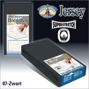 Split Jersey hoeslaken Oplegmatras Zwart