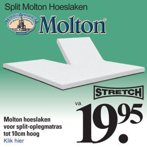 Split Topper Molton Hoeslaken
